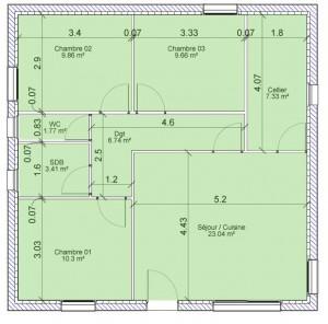 Vente de maison surface habitable d finition et mode de for Calcul surface habitable maison individuelle